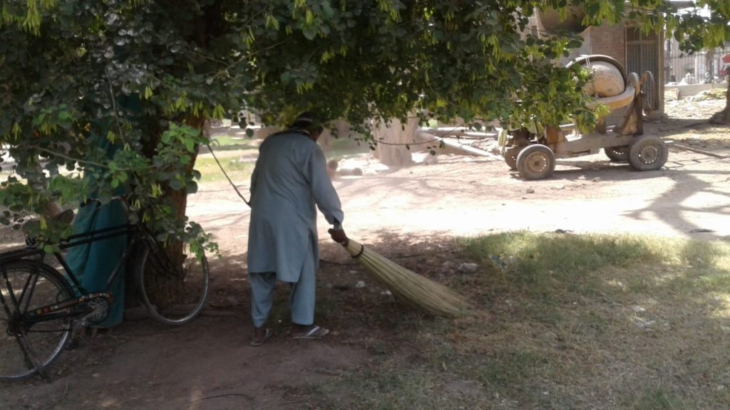 Daily Cleanliness Activities in Different Areas of Multan